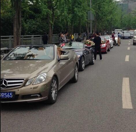"""哈尔滨租车-婚庆案例:""""敞篷奔驰宝马车队"""" 圆满顺利结束"""