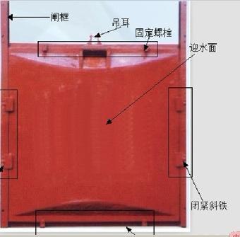 暗杠式鑄鐵鑲銅閘門