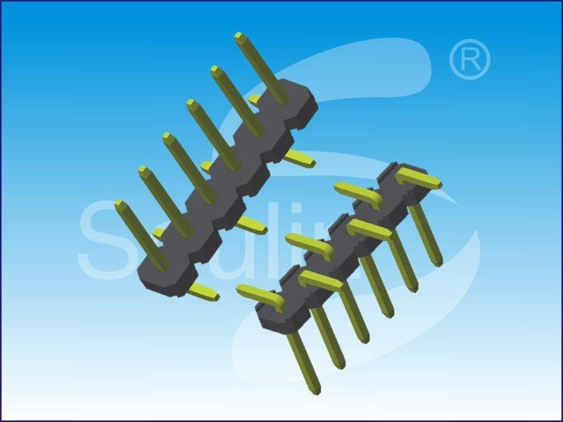 5.08排针, 间距5.08mm ,  单排2Pin  , 镀锡, 环保材料, 深圳排针工厂