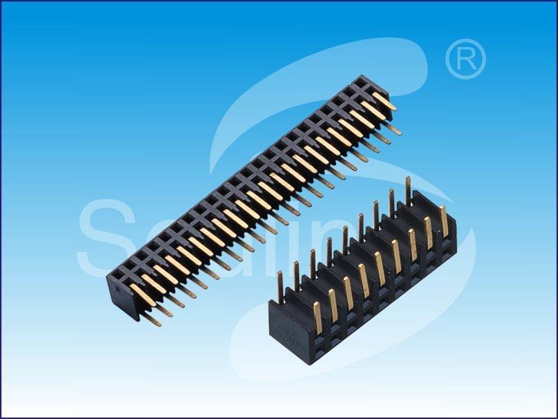 2.0间距 双排弯母   高度4.9mm