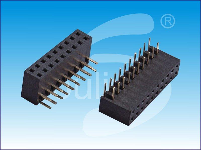2.0mm , 双侧弯排母, 高度4.9mm  , 弯插排母, 环保材料, 硕凌何先生