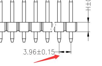 全系列排针 所有规格标准尺寸及定制 3.96mm排针图纸详细解答