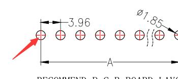 【3.96mm排针连接器】单排单塑 直插 支持定制排针 3.96mm图纸详细解答