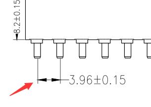 3.96mm间距单双排母插座母座连接器180度镀金环保支持定制厂家直销 3.96mm排母图纸详细解答