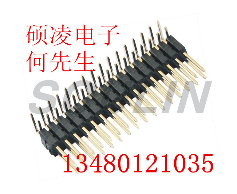 1.27mm Pin Header H=1.0 Single Row Rignt Angle Type shenzhen factory