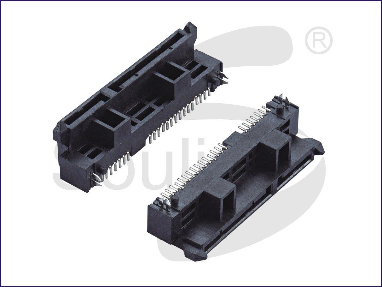SATA接口母座, SATA连接器母座, 贴片SMT电镀镀金, 高度塑高8.9毫米, 12毫米
