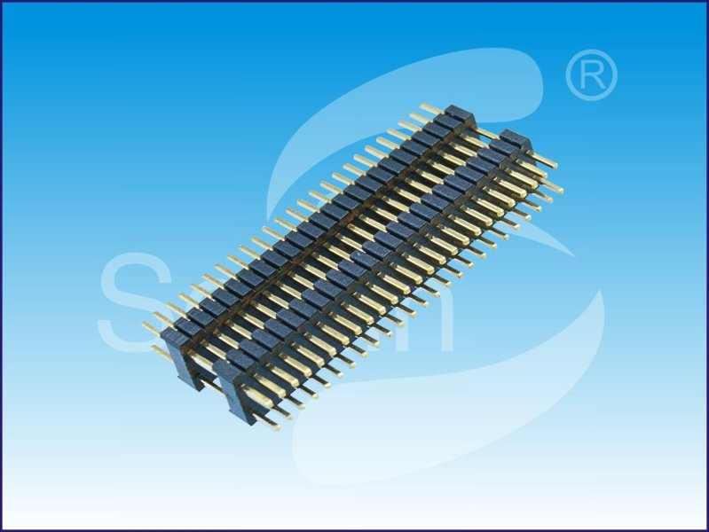 排针1.27*2.54mm pin header, SMT