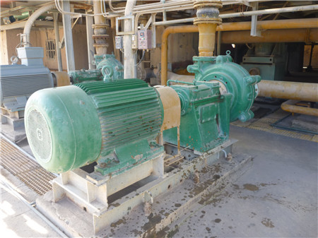 TH slurry pump in power plant.