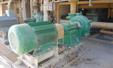 TH slurry pump in power plant