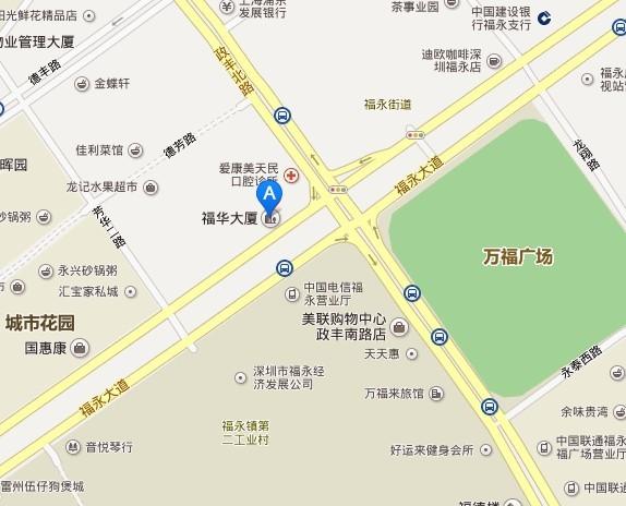 深圳艾索咨询地理位置图
