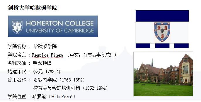 英国剑桥大学哈默顿学院博士后