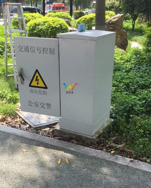 广州市黄埔区东鹏大道交通信号机调试4