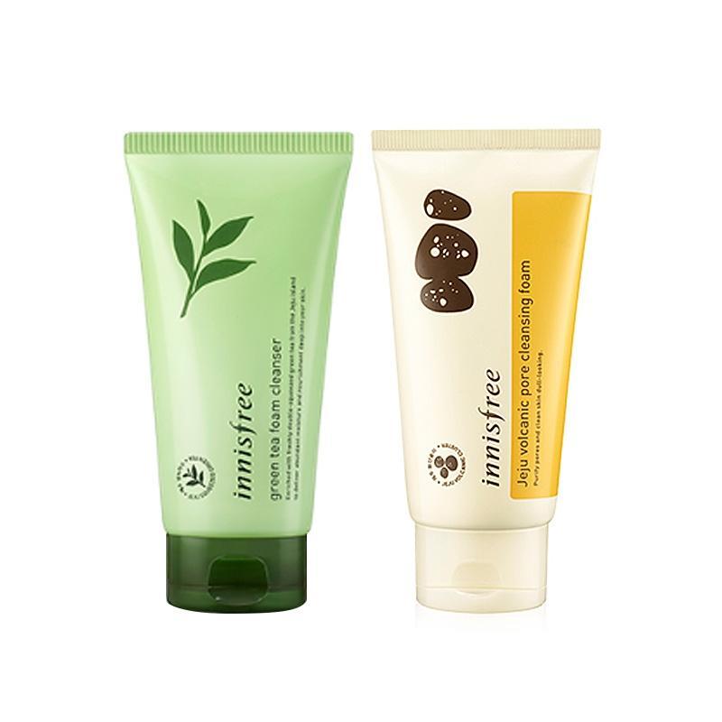 悦诗风吟火山泥清洁+绿茶洗面奶,韩国进口化妆品货源