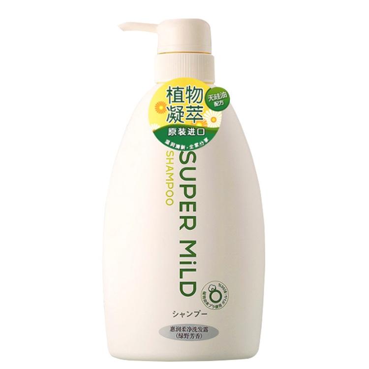 一般贸易货源【中文标】代购日本资生堂惠润洗发水柔净绿野芳香600ml