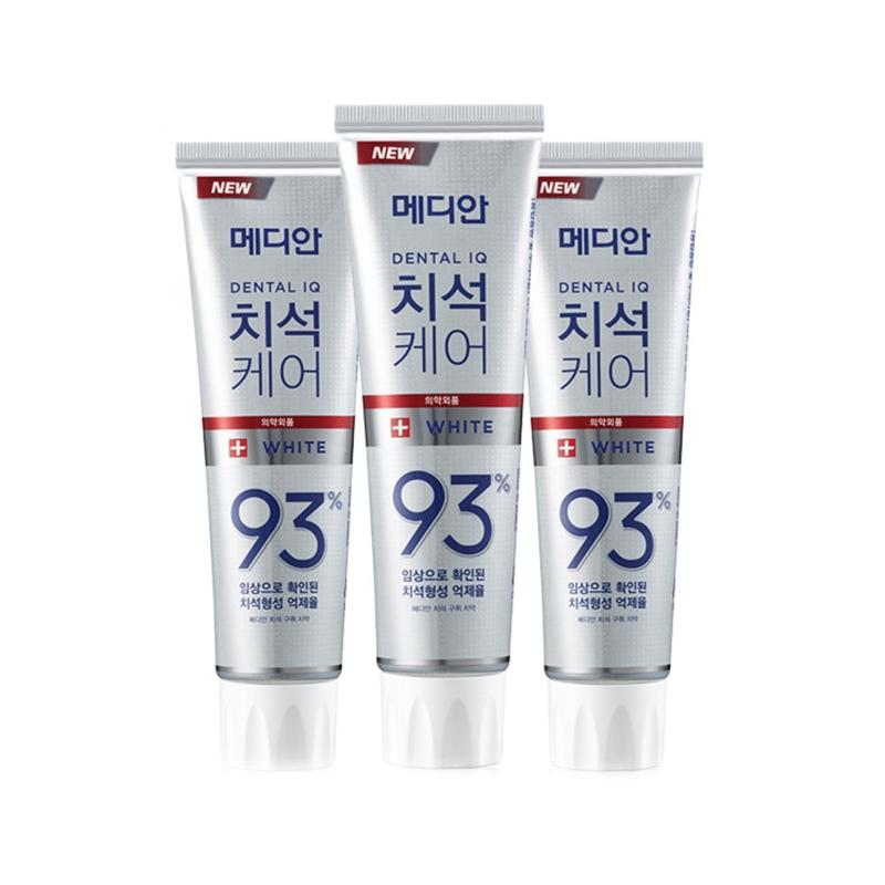 【香港直邮货源】代购韩国爱茉莉麦迪安牙石护理93%洁白牙膏白色120g