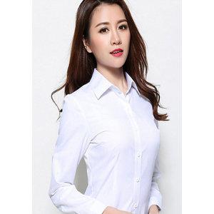 新款女士长袖衬衫_秋季白领衬衣 修身款