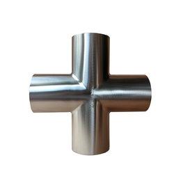 卫生级焊接不锈钢四通管件