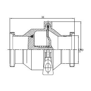 内外螺纹止回阀的尺寸 - DIN系列