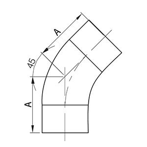 45度BPE焊接弯头