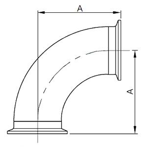 BPE管件 - 90°快装弯头