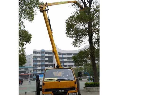 22米高空车施工案例