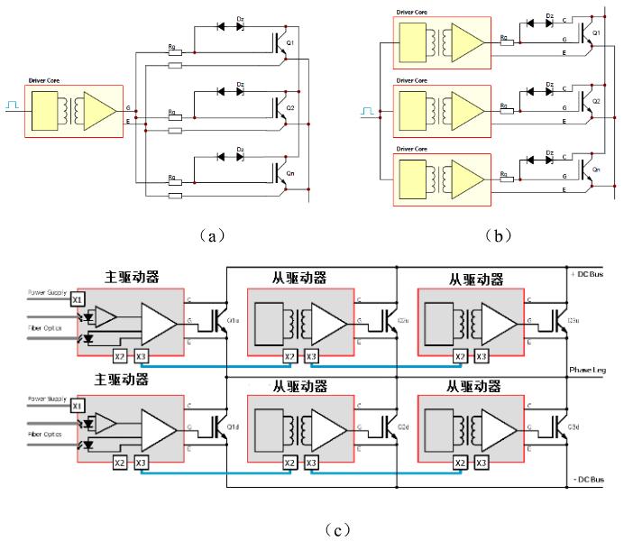 图5  IGBT并联驱动器连接方式