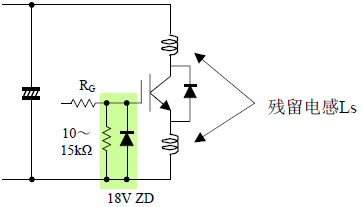 短路电流关断时的C-E间过电压