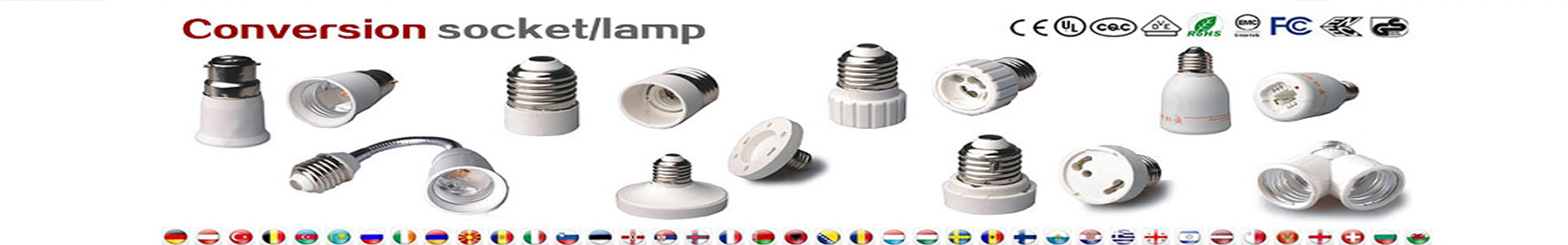 Light bulb socket adapter