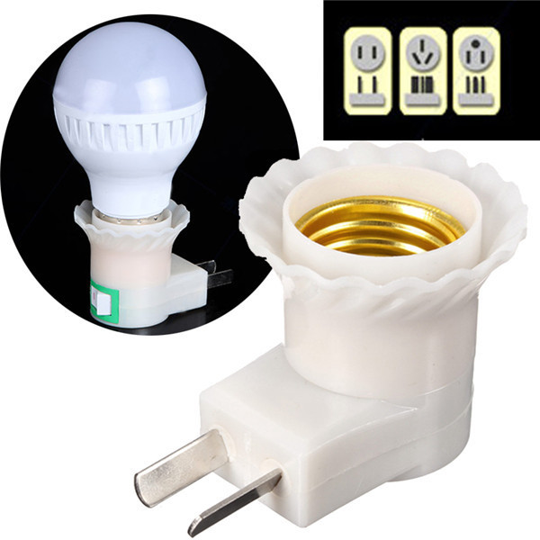 E27 to US Plug Adapter Switch for led bulbs