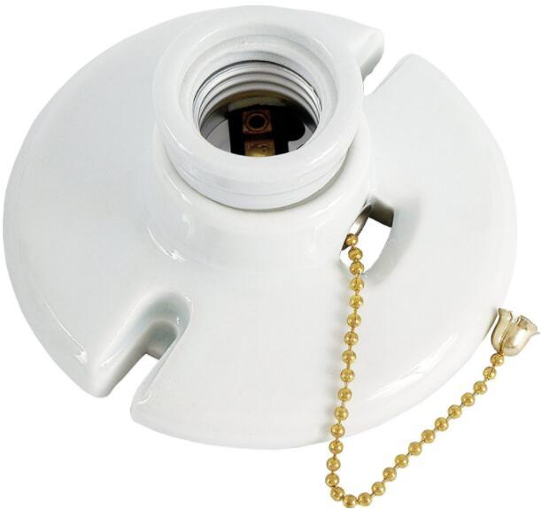 light bulb socket with pull chain Medium base