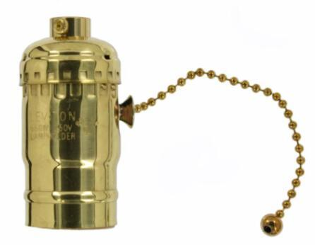 Incandescent led Antique brass light socket