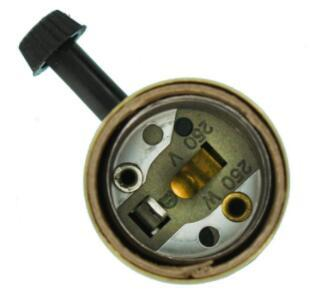 Brass lamp holder with switch 2-Circuit for 3-Way Lamps