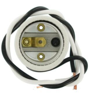 Porcelain light socket with leads