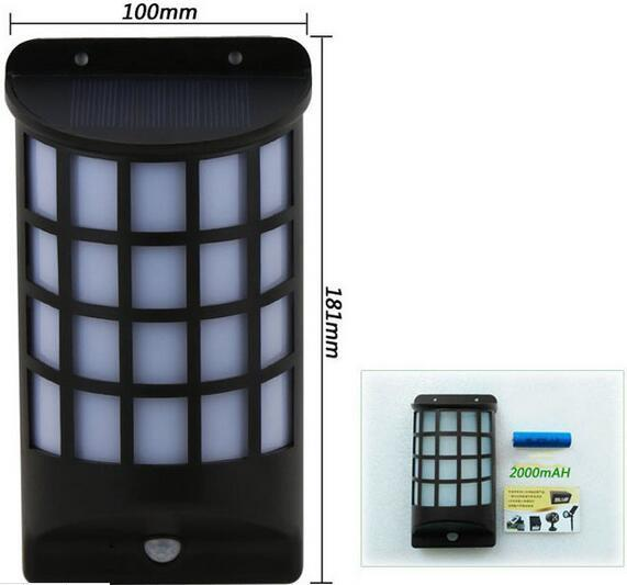 PIR Motion Sensor LED Light IP65 Waterproof outdoor solar yard lights