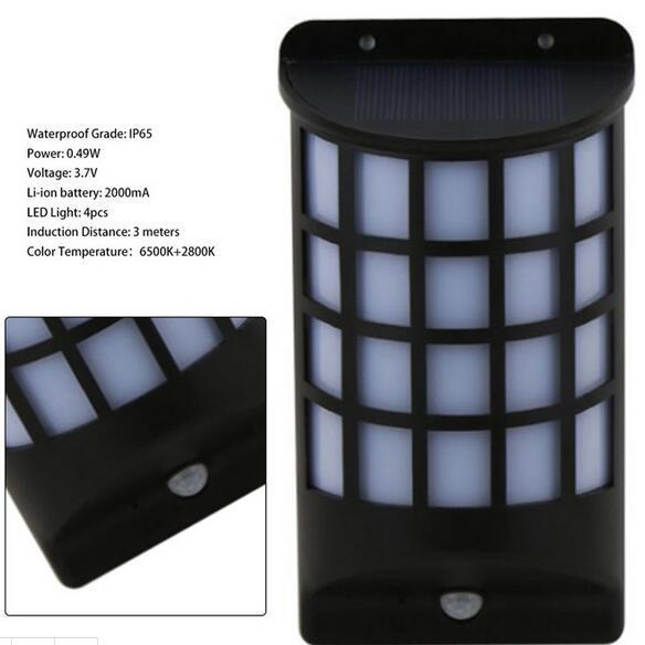 Motion Sensor LED IP65 Waterproof outdoor solar yard lights
