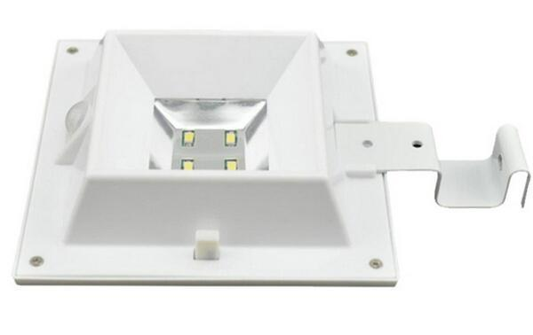 white solar fence post lights