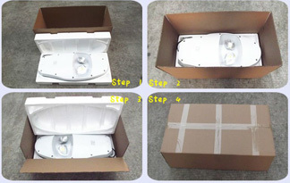 high quality solar flood light with on off switch packaging carton