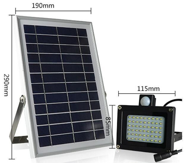 led motion sensor flood light size