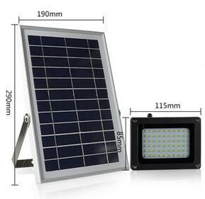 solar powered motion flood lights size