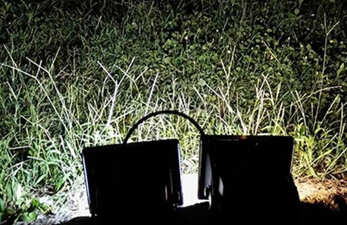solar powered motion flood lights for the garden at night