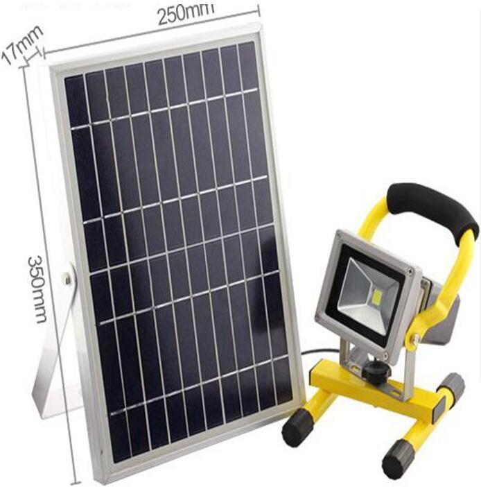 10W portable solar motion flood lights outdoor
