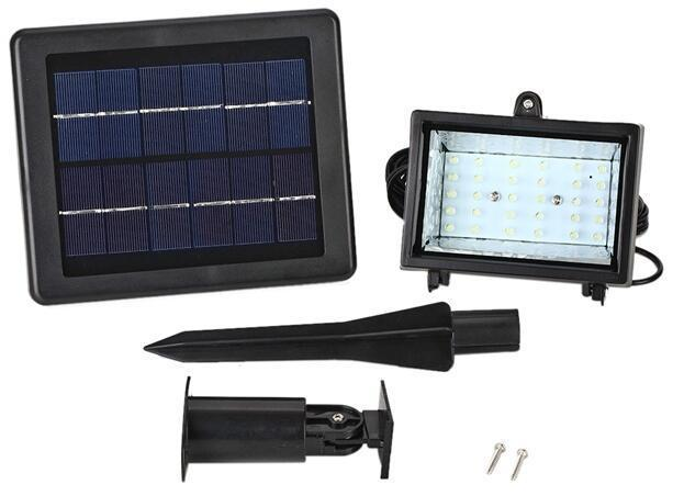 30 LED 2.5 watt sensor solar garden flood lights