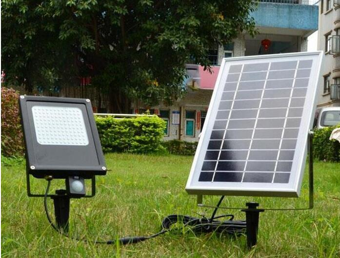 6W solar sensor flood lights for the garden