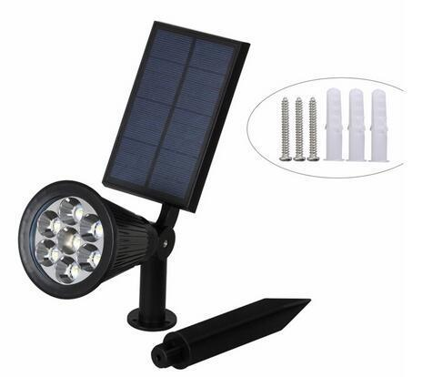 7 LED Auto Color-Changing best solar landscape lights