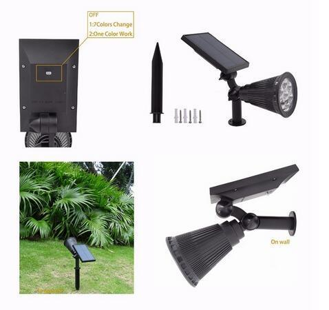 Auto Color-Changing best solar landscape lights
