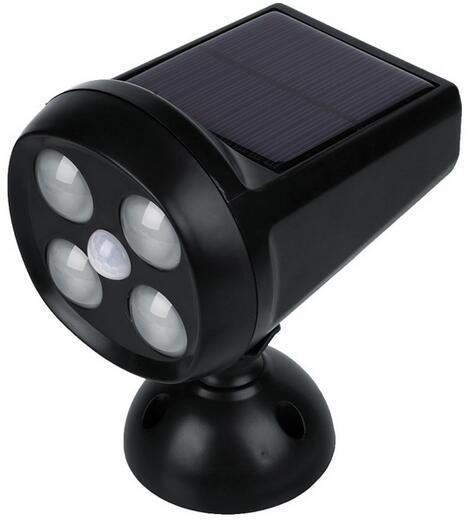 4 LEDs motion activated flood light