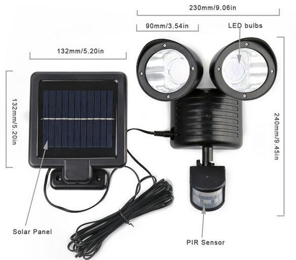 outdoor motion sensor flood lights diagram size