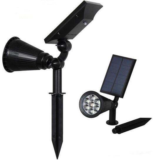 solar powered lawn lights with Ground Spike