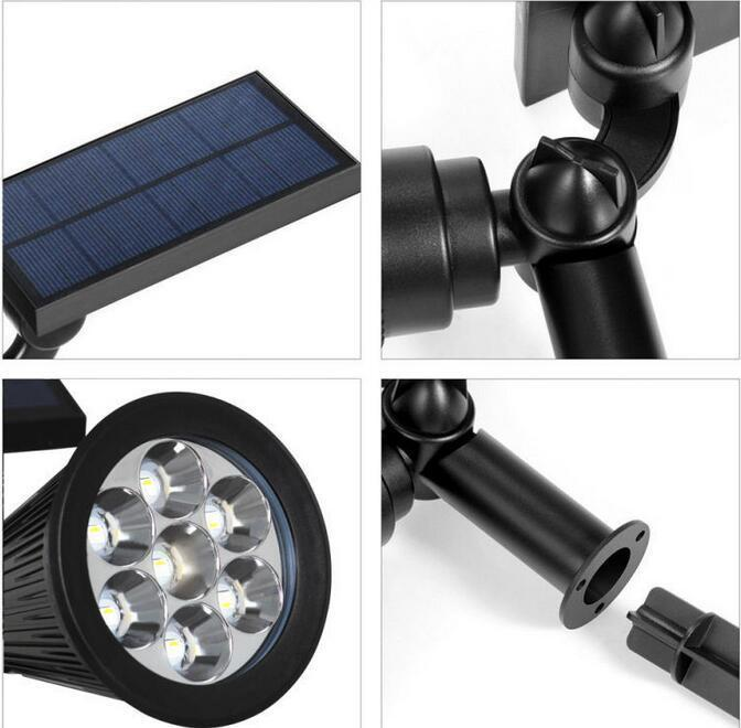 solar powered lawn lights specification