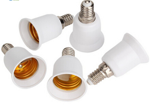 E14 to E27 lamp socket adapter for led bulbs